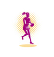 Netball Player Jumping vector image vector image
