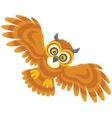 Night owl flying vector image vector image