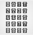 numbers from mechanical scoreboard alphabet vector image vector image