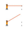 open and closed car barriers vector image vector image