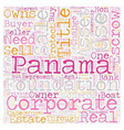 Panama Escrow Services text background wordcloud vector image vector image