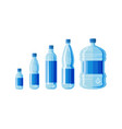 plastic water bottle set isolated vector image