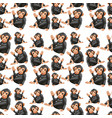playful ape seamless pattern vector image