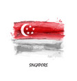 realistic watercolor painting flag singapore vector image vector image