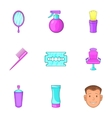 Salon icons set cartoon style vector image vector image