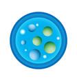 schematic a petri dish vector image vector image