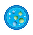schematic a petri dish with vector image