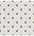 Seamless animal pattern of paw footprint in vector image