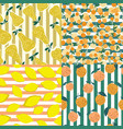 set fruits seamless pattern on stripes vector image vector image