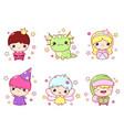 Set kawaii fairy tale characters