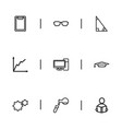 set of 9 editable science outline icons includes vector image vector image