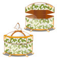 set of closed and opened ornate gift boxes with vector image vector image