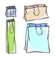 Set of colored paper shopping bags vector image