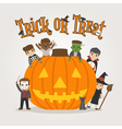 Set of halloween costume characters vector image vector image