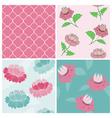 Set of Seamless Vintage Floral backgrounds vector image vector image
