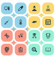set of simple science icons vector image vector image