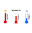set thermometers with different levels vector image