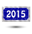 sign new year vector image