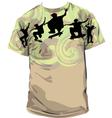 Skater T-shirt vector image vector image