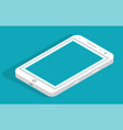 smartphone icon in flat design style on blue vector image