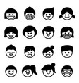 smiley face happy face icons vector image vector image