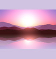 sunset mountain landscape vector image vector image
