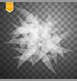 transparent broken glass on transparent background vector image