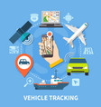 transport navigation round composition vector image vector image