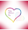 Valentines card with stylish hearts vector image vector image