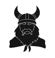 Viking icon in black style isolated on white vector image