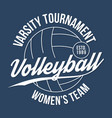 volleyball typography for t-shirt print varsity vector image vector image