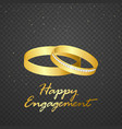 wedding ring gold on transparent background vector image vector image
