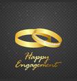 wedding ring gold on transparent background vector image