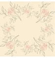 seamless of flowers on a beige vector image