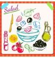 Salad Cooking Process vector image