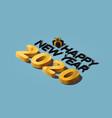 2020 isometric happy new year vector image vector image