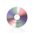 3d realistic multicolor blank cd dvd vector image vector image