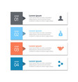 4 steps of infographic with grey sky blye orange vector image vector image