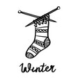 a winter lettering vector image