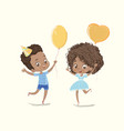 baby birthday party balloon dance poster african vector image vector image