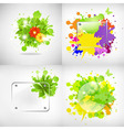 Backgrounds With Glass And Blots vector image