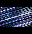black and holographic blue stripped 3d background vector image