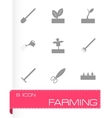 black farming icon set vector image vector image