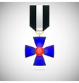 Blue Cross of a military medal vector image