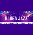 blues jazz banner vector image vector image