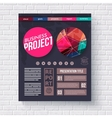 Business Project presentation infographic vector image vector image