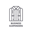 business suspenders line icon outline sign vector image vector image
