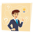 businessman thinking about creative idea business vector image