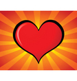 cartoon heart vector image vector image