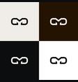 cd cmd vr logo monogram vector image